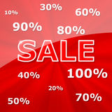 Sale. Advertisement background with great discount royalty free illustration