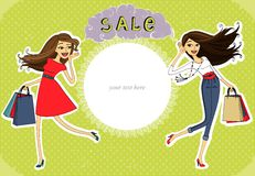Sale advertisement, invitation banner Royalty Free Stock Photo