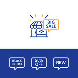 Sale advertising concept, shopping discount special offer Stock Images