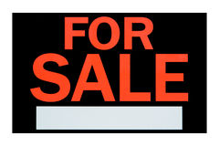 For Sale Advertising Sign with Blank Message Space Stock Photos