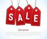 Sale affisch royaltyfri illustrationer