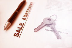Sale Agreement Contract Royalty Free Stock Images
