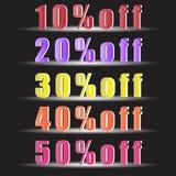 Sale aktie, svarta fredag rabatter Abstrakt illustration Eps 10 för vektor stock illustrationer