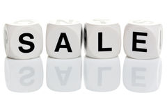 Sale in alphabet blocks Royalty Free Stock Photography