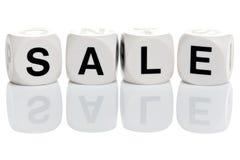 Sale in alphabet blocks royalty free stock photography