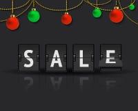 Sale analog flip clock Royalty Free Stock Photo