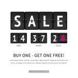 Sale analog flip clock Stock Images