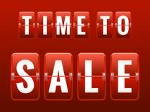 Sale analog flip clock. EPS 10. Time to Sale analog flip clock. EPS 10 vector file included stock illustration