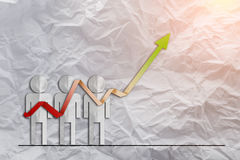 Sale analysis report show result of growth success charts and gr Stock Photo