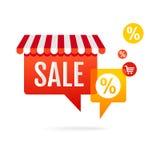 Sale - anförandebubblor. stock illustrationer