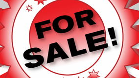 For Sale stock footage