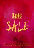 Sale announcement banner. Stock Image