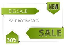Sale announcements (tags, badges) Royalty Free Stock Images