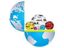 Sale around the world Royalty Free Stock Images
