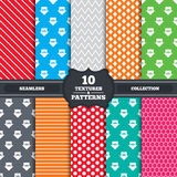 Sale arrow tag icons. Discount symbols. Seamless patterns and textures. Sale arrow tag icons. Discount special offer symbols. 10%, 20%, 30% and 40% percent Royalty Free Stock Photo