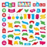 Sale arrow tag icons. Discount symbols. Stock Photo