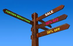 Sale arrows Stock Images