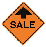 Sale attention plate. Road sign design for retail business poster Stock Photography