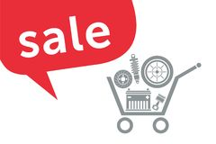 Sale in the auto parts store Royalty Free Stock Photography