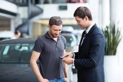 Sale of automobiles Stock Photo