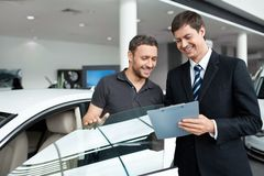 Sale of automobiles Stock Photo