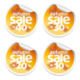 Sale  autumn stickers Royalty Free Stock Image