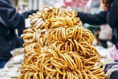 Sale av baglar, får i gatan arkivbilder