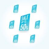 Sale 50 av etiketter Fotografering för Bildbyråer