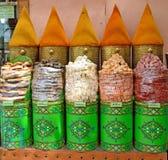 Sale av kryddor på marknaden i Marrakech i Marocko Royaltyfri Fotografi