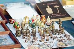 Sale av souvenir för turister arkivfoto
