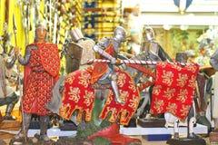 Sale av souvenir i abbey av Mont Sanktt Michel. Normandy Franc Royaltyfri Bild