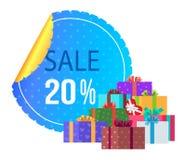 Sale 20 av specialt exklusivt erbjudande för rund etikett Royaltyfri Fotografi