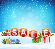 Sale background with ball Stock Photos