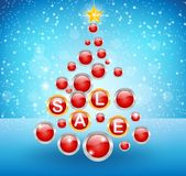 Sale background with ball Stock Photography