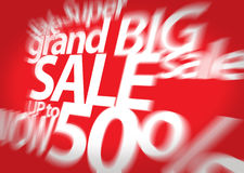 Sale background. Big sale. Sale tag. Sale poster. Grand sale. Super Sale and special offer. 50% off Stock Photos