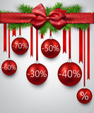 Sale background with christmas balls. Stock Photo