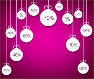 Sale background with christmas balls. Stock Image