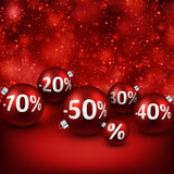 Sale background with christmas balls. Stock Photos