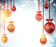 Sale background with christmas balls. Stock Photography