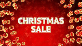 Sale on background with christmas ornaments Royalty Free Stock Images