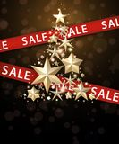 Sale background with Christmas tree. Stock Images