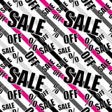 Sale background  Closeout seamless pattern Stock Images