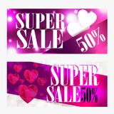 Sale background with Heart Shaped. Wallpaper,flyers, invitation, posters, brochu Royalty Free Stock Photo
