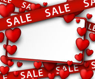 Sale background with hearts Stock Photography