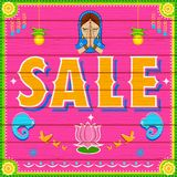 Sale Background in Indian Truck paint style. Illustration of Sale Background in Indian Truck paint style Stock Images
