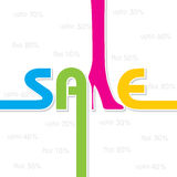Sale background and label for business promotion Royalty Free Stock Images