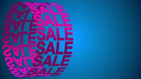 Sale background for promo, concept of sale and clearance 3D rendering