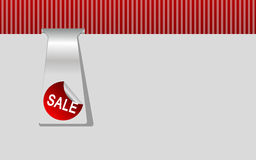 Sale background. Red background with sale sign for shopping Stock Photography