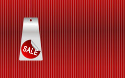 Sale background. Red background with sale sign for shopping Royalty Free Stock Photos