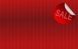 Sale background. Red background with sale sign for shopping Stock Image